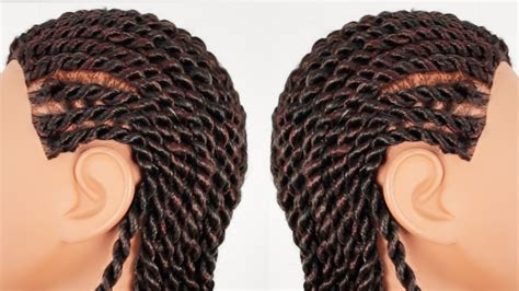 senegalese twists cornrow senegalese rope twist cornrows finished hairstyle part 3