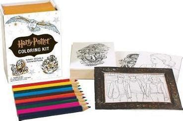 harry potter coloring book goodreads harry potter coloring kit running press 9780762460977