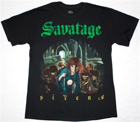 Tshirt Savatage savatage sirens new black t shirt best rock t shirts