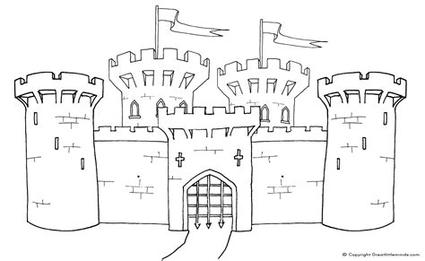 medieval castle coloring pages click   image