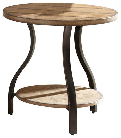 Silver End Table by Steve Silver End Table In Light Oak