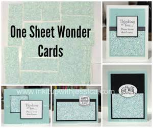 One Sheet Wonder Card Template Pretty Pretty Paper One Sheet Wonder Cards Ink It Up