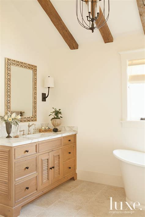 cathedral ceiling  master bath luxe bath powder