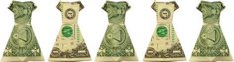 Dollar Bill Origami Dress - money origami dress folding with photos