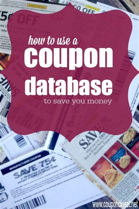 how to save money with a coupon database coupon closet