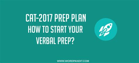 how to start your preparation for the cat verbal ability