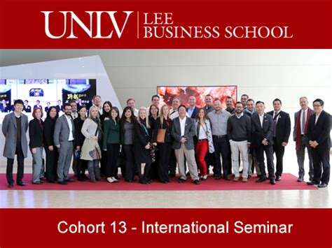 Ulv Mba by Unlv Emba Students Get To Business In Seoul And
