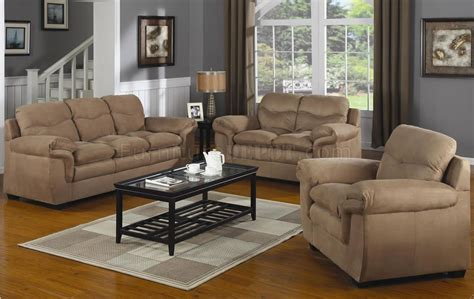 Comfortable Living Room Furniture by Mocha Microfiber Contemporary Comfortable Living Room