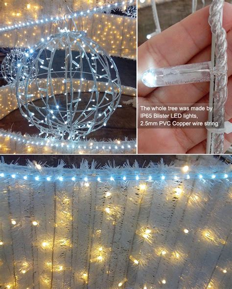 8000 leds ribbon tree outdoor christmas street light