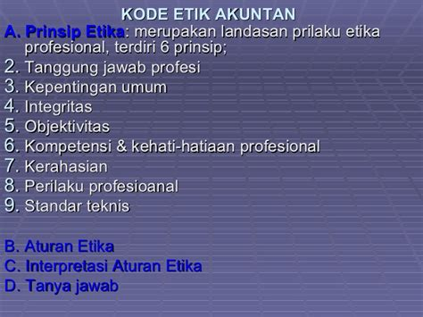 Landasan Etika Profesi 1 auditing bahan kuliah standart auditing 2
