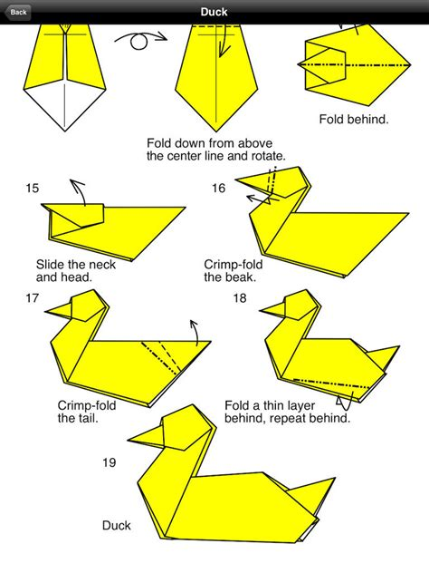 Easy Origami Duck - free coloring pages how to make a simple origami bird