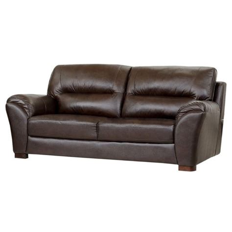 Abbyson Leather Sofa Abbyson Living Cton Leather Sofa In Espresso Ci 1801 Brn 3