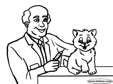 girl vet coloring page veterinarian 1 coloring page