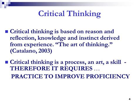critical thinking skills practical strategies for better decision problem solving and goal setting books critical thinking nursing process management of patient