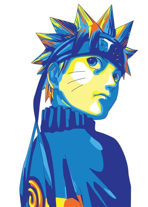 Painting Icon by Uzumaki Naruto Pop Art Pcworx Kaze