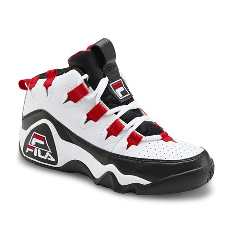 top basketball shoes fila s 95 high top basketball shoe white black