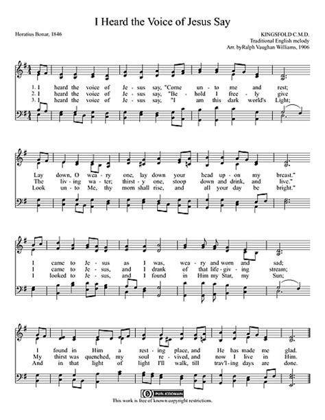house music i heard you say i heard the voice of jesus say sheet music cantorion free sheet music free scores