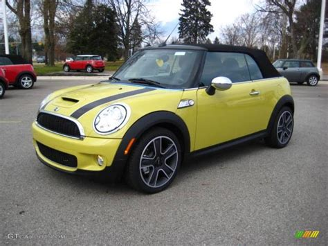 Mini Cooper Yellow by 2010 Interchange Yellow Mini Cooper S Convertible
