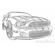 American Muscle Car Digital Drawing