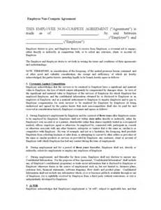 non solicitation agreement template non compete agreement legalforms org