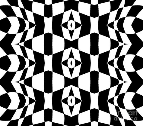 black and white pattern artists geometric black white op art pattern abstract art no 205