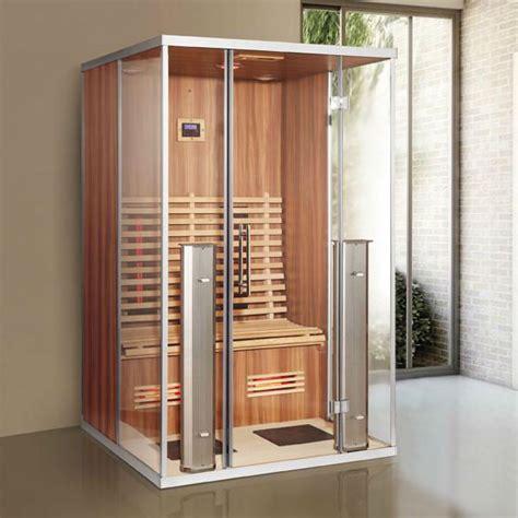 sauna cabin 2 personen ver infrarood rood glas verwarming sauna cabine