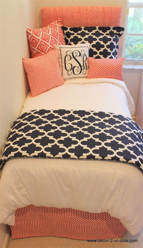 coral and navy bedding navy and coral bedding set for more awesom girls dorm