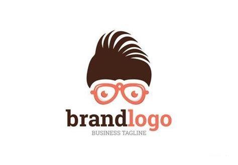 logo layout  hair  glasses vector