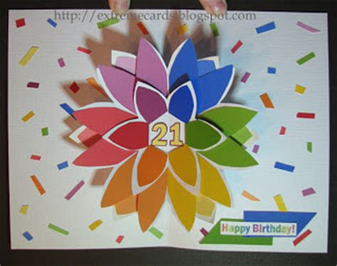 flower pop up card templates dahmen pop up flower birthday card cards and papercrafting