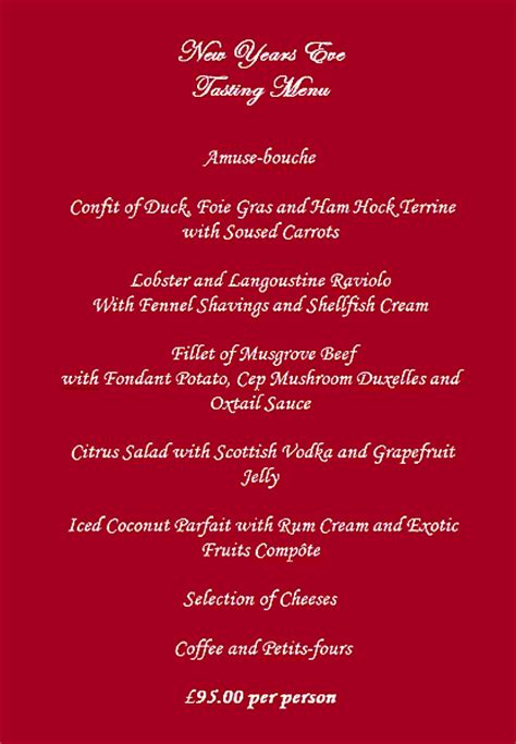 new year menu ideas menu ideas new years dinner ideas menu