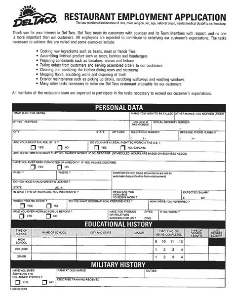 printable job application for domino s pizza pizza hut employment application pdf download