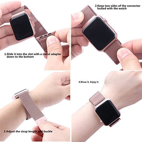 BRG Apple Watch Band Milanese Loop Stainless Steel Bracelet Strap Replacement Wrist Iwatch Band