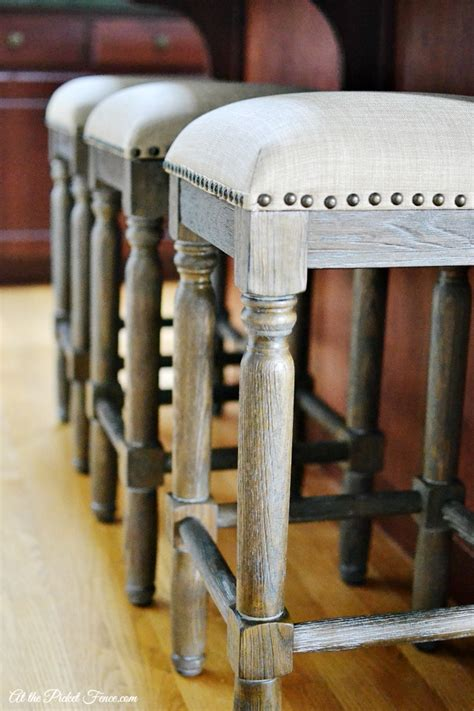 Kitchen Island Chairs With Backs new kitchen island stools at the picket fence