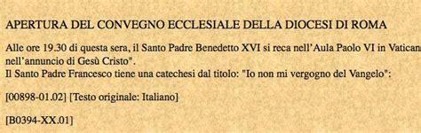 bollettino quotidiano santa sede vaticano gaffe della sala sta ratzinger torna papa