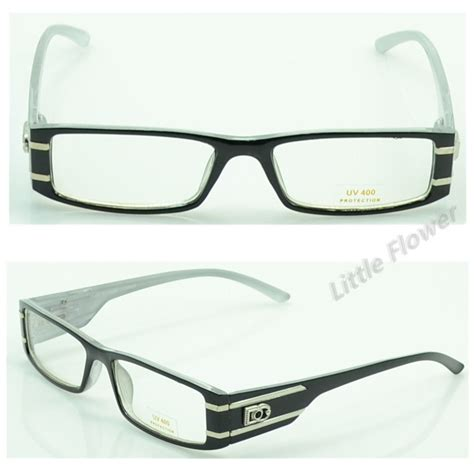 black clear dg eyewear rectangular 342 shield