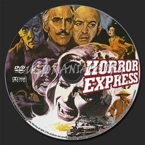 horror express  dvd label dvd covers labels