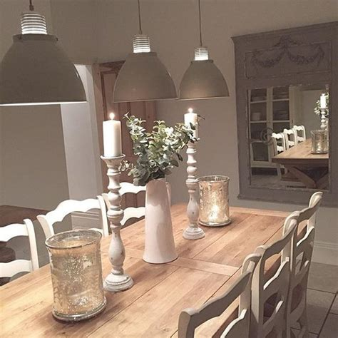 Lights For Dining Room Table shabby and neutral palette on