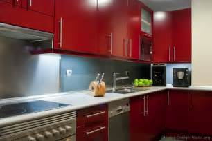 kitchen red pictures of kitchens modern red kitchen cabinets