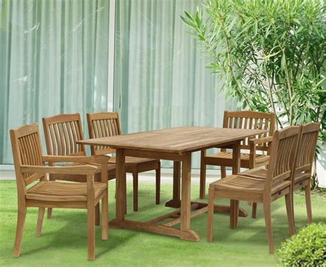 6 Seater Dining Table And Chairs Hilgrove 6 Seater Garden Rectangular Dining Table And Chairs Set