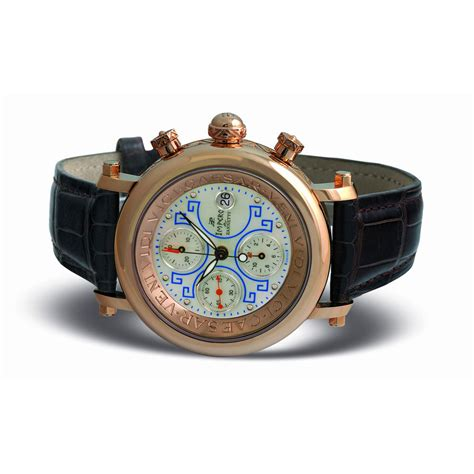 zannetti impero gladiator 18k gold chrono
