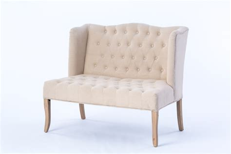 ivory loveseat ivory tufted loveseat rental encore events rentals