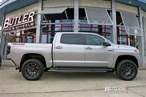 Toyota Tundra Black Rims Toyota Tundra With 20in Black Rhino Selkirk Wheels