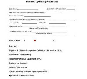 how to create a sop template creating an sop manual