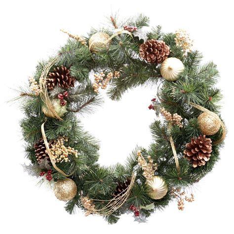 holiday wreath martha stewart living 30 in unlit golden holiday