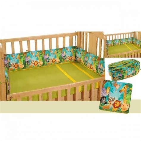 Buy Jungle Animals Cot Bumper Baby Crib Bedding Set Indian Baby Crib