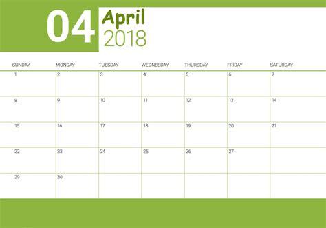 free april 2018 desk calendar to print calendar 2018