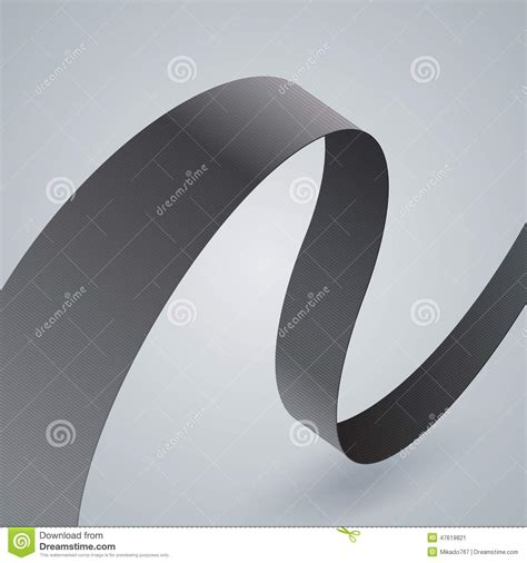 grey ribbon wallpaper gray fabric curved ribbon on grey background stock vector