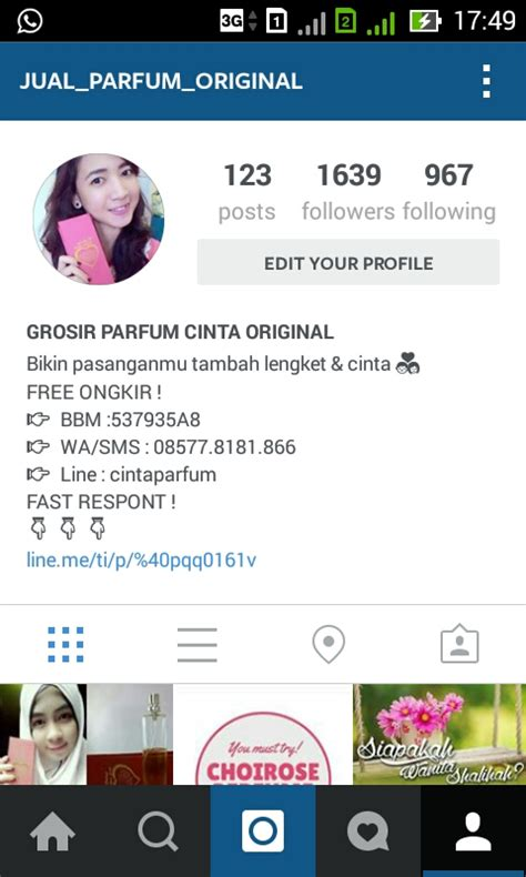 bio instagram untuk online shop cara buat akun jualan instagram