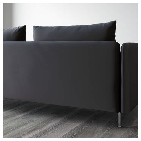 ikea söderhamn sofa s 214 derhamn three seat sofa and chaise longue samsta dark