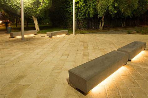 bench lights naama agassi public furniture barak led light bench